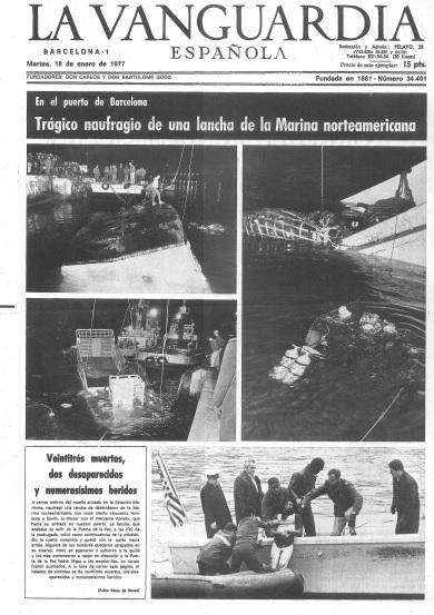 El memorial de las victimas del us navy el peor accidente - Portada de la vanguardia ...