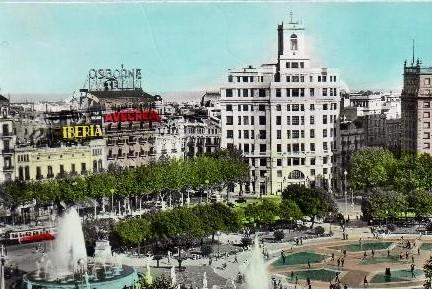El edificio modernista que el corte ingl s devor en plaza - El corte ingles plaza cataluna barcelona ...